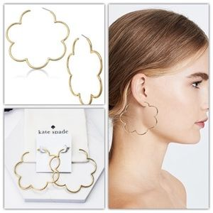 Kate spade scalloped scrunched hoop earrings